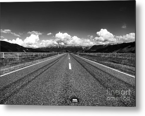 State Hwy 63 Metal Print featuring the photograph Road To The Horizont by Fabian Roessler