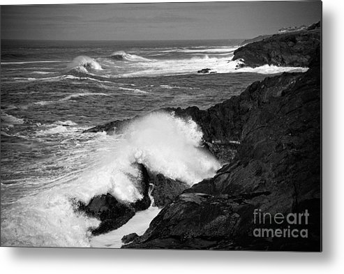 Seascape Metal Print featuring the photograph Rough Surf by Earl Johnson