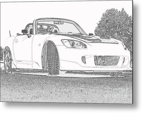 S2000 Metal Print featuring the mixed media S2000 Sketch by Eric Liller