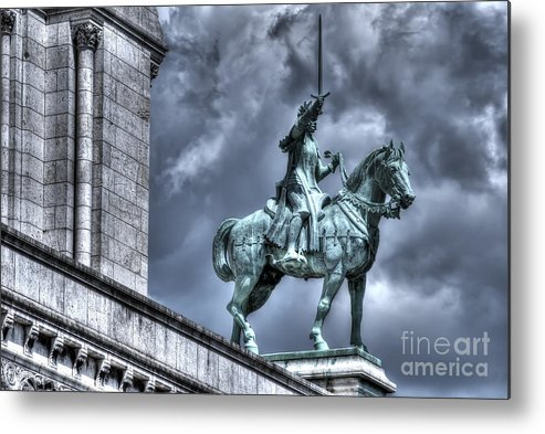 Joan Metal Print featuring the photograph Joan Of Arc Sacre Coeur Paris by Colin Woods