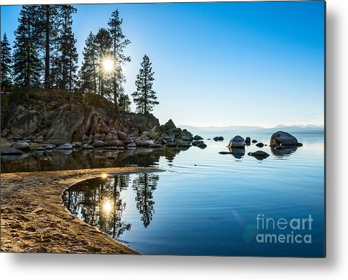 Sand Harbor Metal Print featuring the photograph Sand Harbor Cove by Jamie Pham