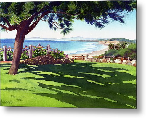 Seagrove Metal Print featuring the painting Seagrove Park Del Mar by Mary Helmreich