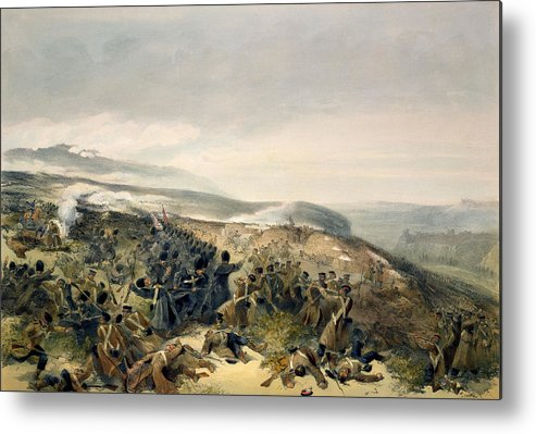 Guard Metal Print featuring the drawing Second Charge Of The Guards by William 'Crimea' Simpson