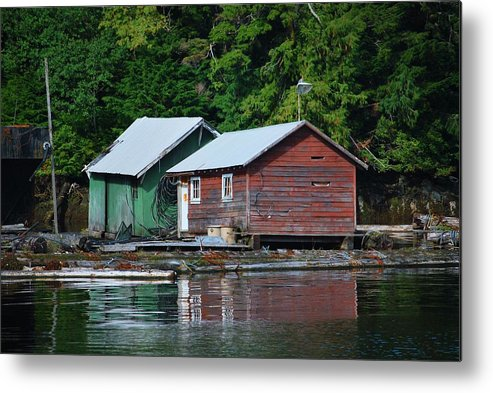 Wooden Metal Print featuring the photograph Shacks In Alaska by Richard Jenkins