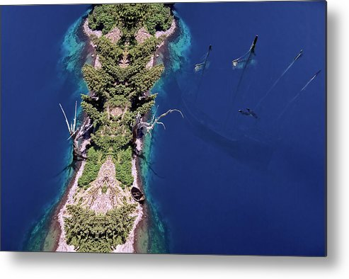 Surreal Metal Print featuring the photograph Ship Of Theseus by Heath Yonaites