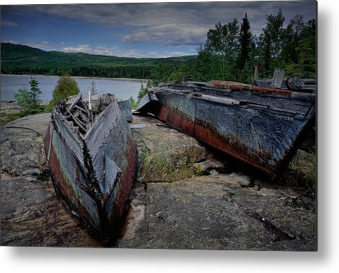 Art Metal Print featuring the photograph Shipwrecks At Neys Provincial Park No.3 by Randall Nyhof