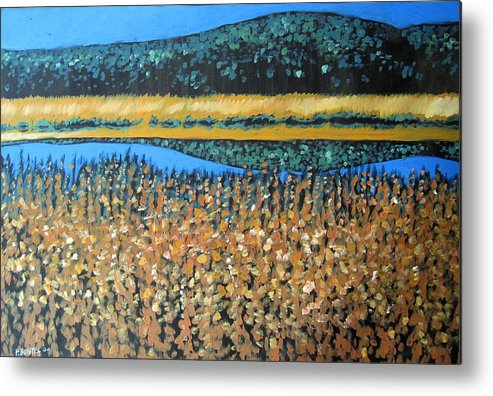 Metal Print featuring the painting Snake River by Franck Boistel