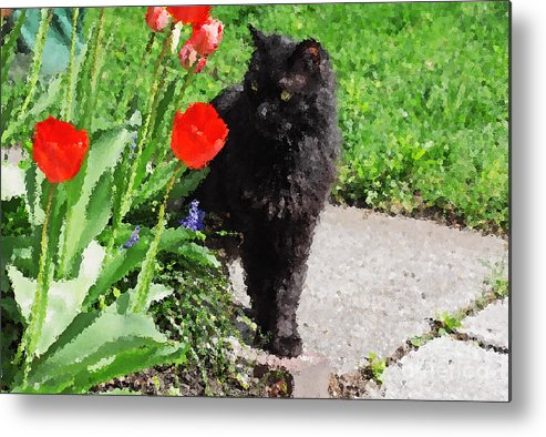 Spring Metal Print featuring the photograph Sniffing Spring by Charline Xia