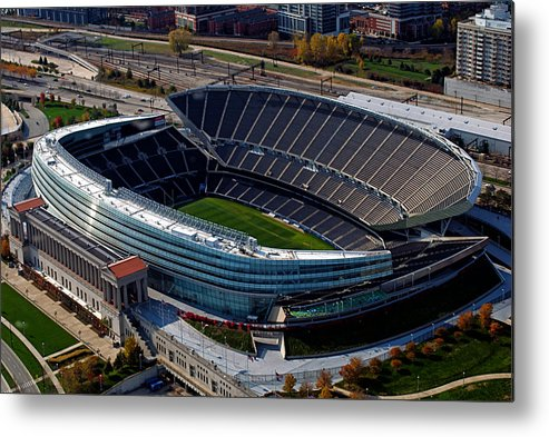 Soldier Field Metal Print featuring the photograph Soldier Field Chicago Sports 06 by Thomas Woolworth
