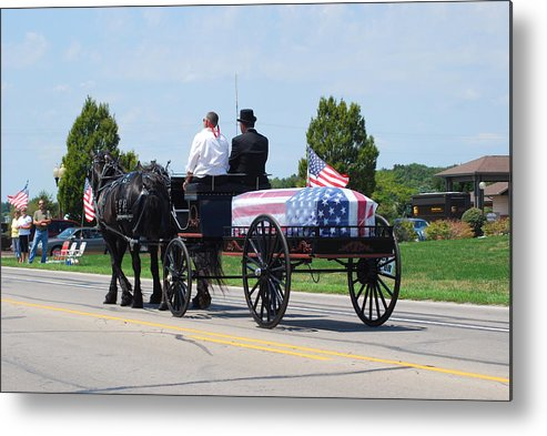 Horse Metal Print featuring the photograph Some Gave All by Wanda Jesfield
