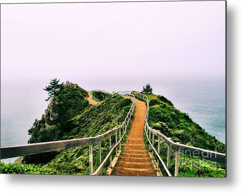 Stinson Beach Metal Print featuring the photograph Stairway To Stinson by Nancy Chambers