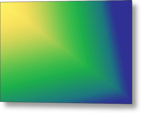 Yellows Metal Print featuring the digital art Star Beam In Yellow Green And Blue by Karen Nicholson