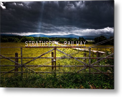 Strathspey Metal Print featuring the photograph Strathspey Railway by Wolfgang Simm
