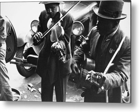 1935 Metal Print featuring the photograph Street Musicians, 1935 by Granger