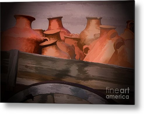 Southwest Metal Print featuring the photograph Street Wares Of Tubac by Sandra Bronstein