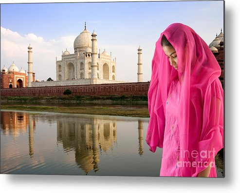 Landscape Metal Print featuring the photograph Taj Mahal by David Davis