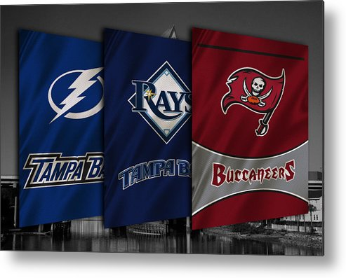 Tampa Bay Sports >> Tampa Bay Sports Teams Metal Print By Joe Hamilton