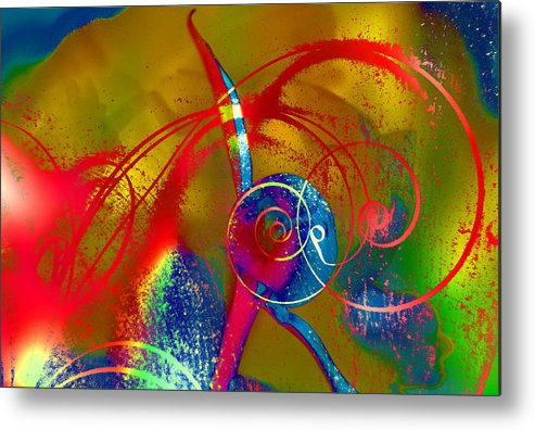 Abstract Metal Print featuring the photograph The Bud by Jeff Burgess