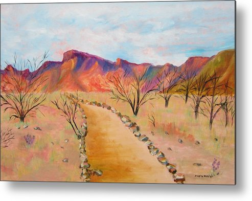 Mesquite Metal Print featuring the painting The Mesquite Trail Arizona by Marita McVeigh