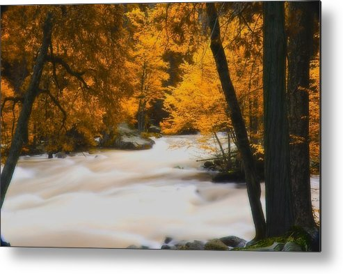 Infrared Metal Print featuring the photograph The Mist by Jean-Pierre Mouzon