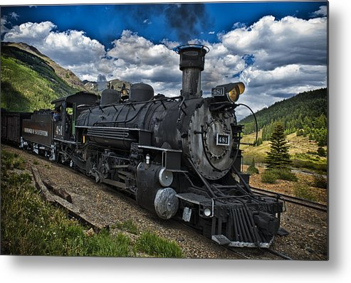 Durango & Silverton Rail Road. Silverton Colorado Metal Print featuring the photograph The Old 481 by Gary Warnimont
