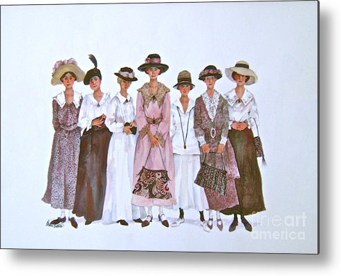 Women Metal Print featuring the painting The Suffragettes by Sherri Crabtree