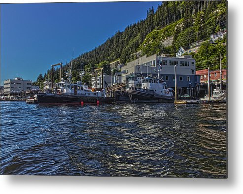 Metal Print featuring the photograph The Tugs In Ketchikan by Timothy Latta