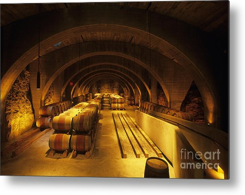 Wine Metal Print featuring the photograph The Wine Room by Frank Martin