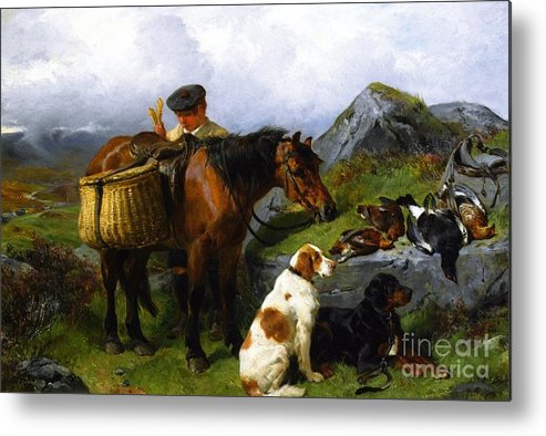 Fun Metal Print featuring the painting The Young Gamekeeper by Celestial Images