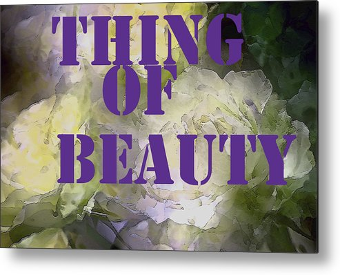 Thing Of Beauty Metal Print featuring the photograph Thing Of Beauty by Pamela Cooper
