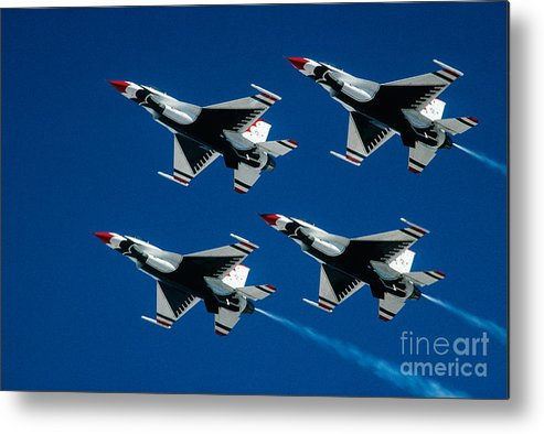 U.s. Air Force Thunderbirds Metal Print featuring the photograph Thunderbirds by Larry Miller