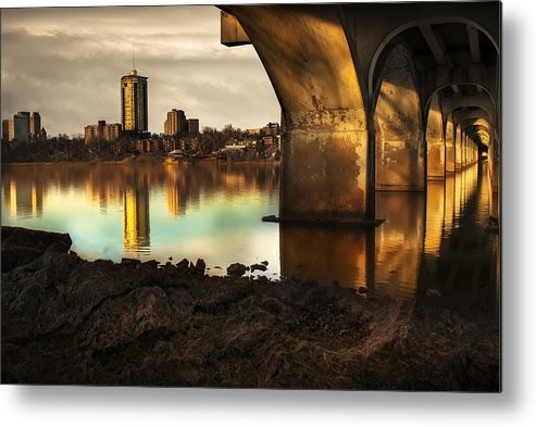 Tulsa Downtown Metal Print featuring the photograph Tulsa Under Bridge 5 by Tim Hayes