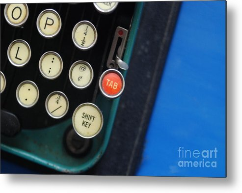 Typewriter Metal Print featuring the photograph Typewriter by Valerie Winebrenner