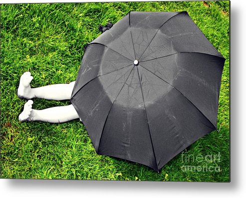 Umbrella Metal Print featuring the photograph Umbrella Dreams by Peace Monger