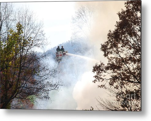 Fire Metal Print featuring the photograph Up In Smoke by Eric Liller