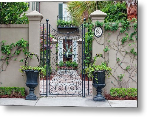 Architecture Metal Print featuring the photograph Usa, Sc, Charleston, Historic District by Rob Tilley