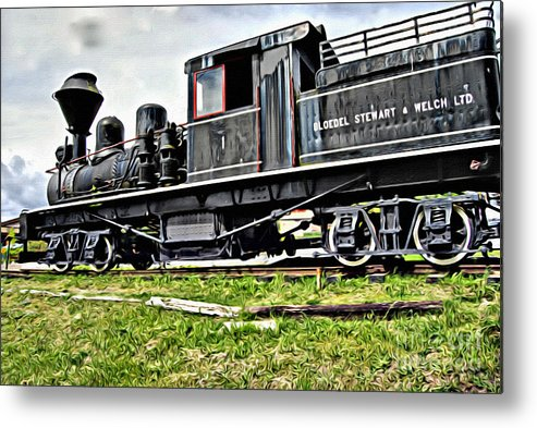 Train Metal Print featuring the photograph V.i. 0046 by Charles Cunningham