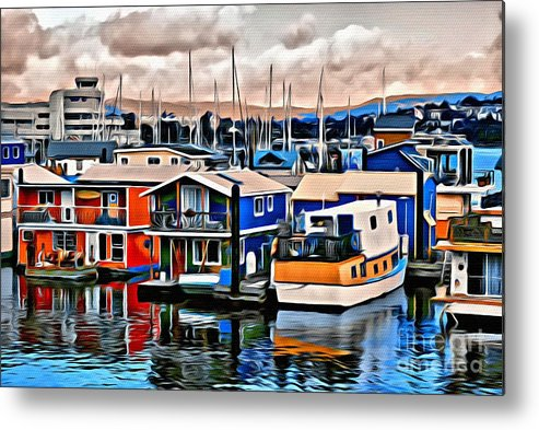 Hose Boats Metal Print featuring the photograph V.i. 0143 by Charles Cunningham