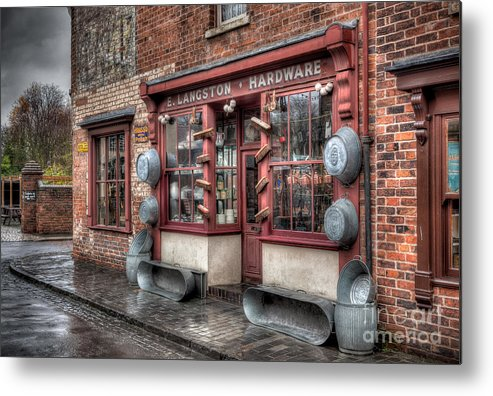 Architecture Metal Print featuring the photograph Victorian Hardware Store by Adrian Evans