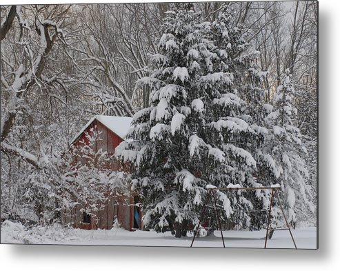 Amherst Metal Print featuring the photograph Winter Wonderland by Albert McCracken