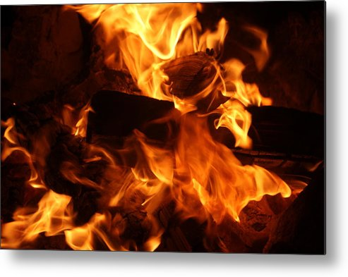 Fire Metal Print featuring the photograph Campfire 2 by Shawna Cansdale