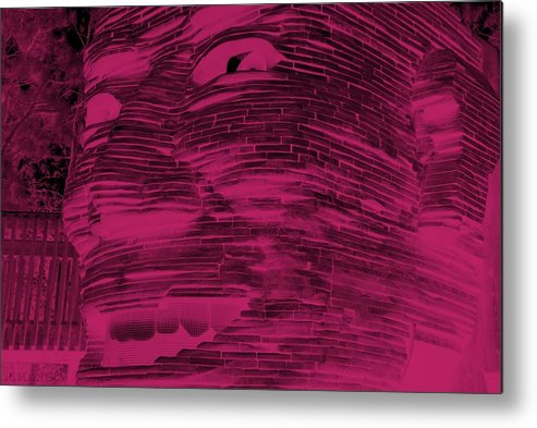 Architecture Metal Print featuring the photograph Gentle Giant In Hot Pink by Rob Hans