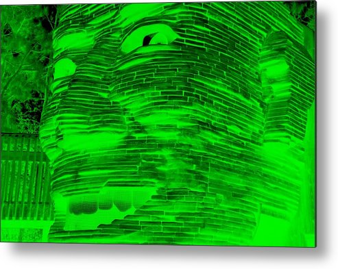 Architecture Metal Print featuring the photograph Gentle Giant In Negative Green by Rob Hans