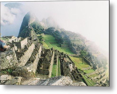 Machu Picchu Metal Print featuring the photograph Machu Picchu In The Fog by Nimmi Solomon