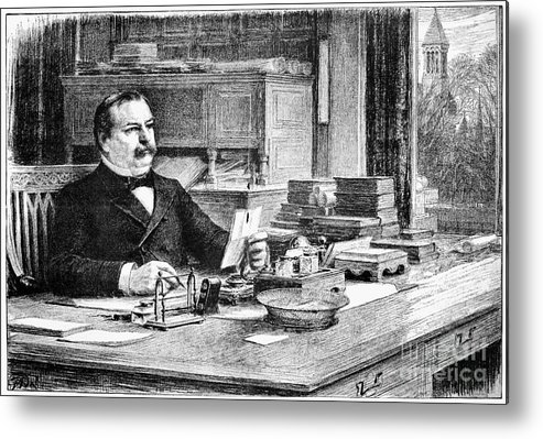 1884 Metal Print featuring the photograph Grover Cleveland by Granger