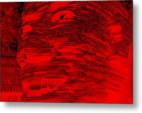 Architecture Metal Print featuring the photograph Gentle Giant In Negative Red by Rob Hans