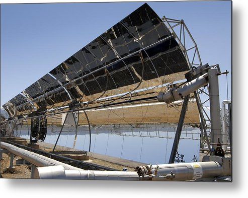 Equipment Metal Print featuring the photograph Solar Furnace, Spain by Chris Knapton