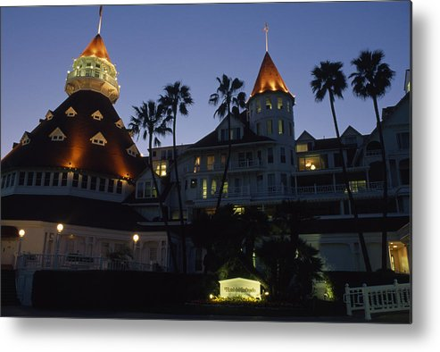 Outdoors Metal Print featuring the photograph A Late Afternoon View Of The Hotel De by Phil Schermeister