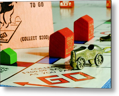 Monopoly Metal Print featuring the photograph Advance To Go by Mark Michel