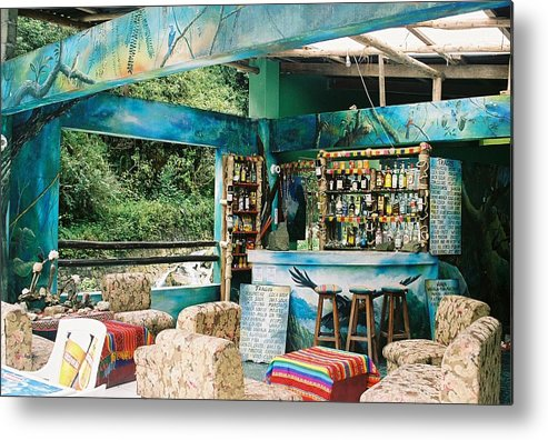 Agua Calientes Metal Print featuring the photograph Agua Calientes Bar by Nimmi Solomon